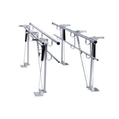 Bailey Manufacturing Parallel Bars, Floor Mounted, Height And Width Adjustable, 7 Foot Long
