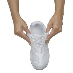 North Coast Medical Stretchable Shoelaces - 37 inches, white