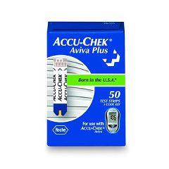 Accu Chek Plus Aviva Blood Glucose Test Strips