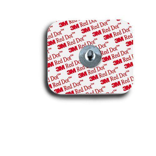 Red Dot 3M Red Dot Resting EKG Electrodes Snap Style Model 672 0296