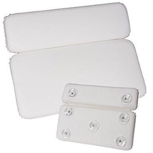 Deluxe Comfort White Vinyl & Foam Relaxing Neck Spa Bath Pillow Model 179 6064