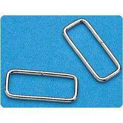 "Sammons Preston Rectangular Loop Metal D-Rings 2"" Stainless Steel"