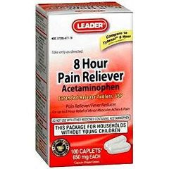 Cardinal Health Leader Pain Relief Caplets 650 mg 100 Count