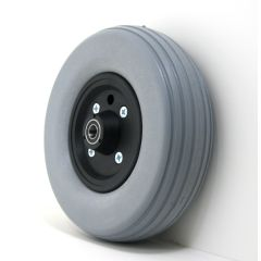 "New Solutions 8"" x 2 1/2"" Caster Wheels With Urethane Tires and B20 Bearings Pair"