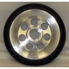 New Solutions Urethane Round Aluminum Wheel - 5 x 1""