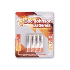 Doc Johnson AAA Batteries - 4 Pack