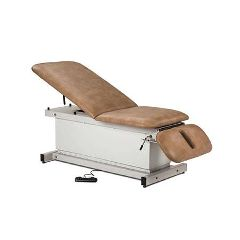 Clinton Industries Shrouded Power Table with Adj Backrest & Drop Section
