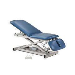 Clinton Industries Open Base Power Table With Adj/Back Rest & Drop Section