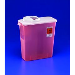 DailySafety Dialysis Sharps Container - 3 Gallon, Transparent Red