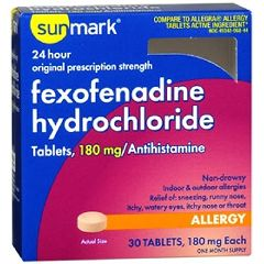 Sunmark Fexofenadine Hydrochloride Allergy Tablets
