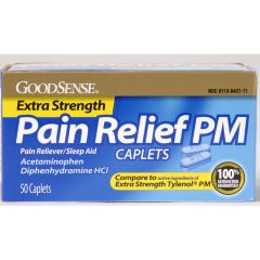 GoodSense X-Strength PM Pain Relief Caplets