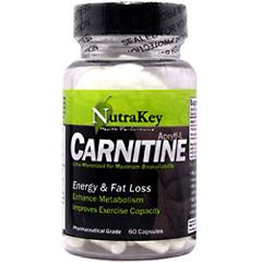 Nutrakey Acetyl L Carnitine Sport Performance Supplement 60 Capsules