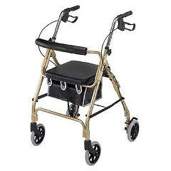 Mabis DMI Ultra Lightweight Aluminum 4 Wheeled Rollator