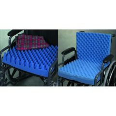 Convoluted Foam Chair Pads - Egg Crate Sculpted Foam Wheel Chair Pads