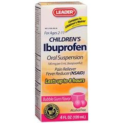 Cardinal Health Leader Ibuprofen Children's Bubble Gum Suspension