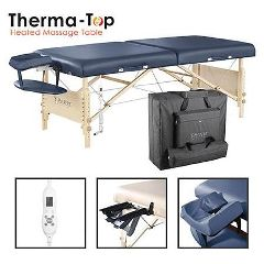 Master Massage Equipment Master Massage Catalina LX Therma Top Portable Table, Royal Blue