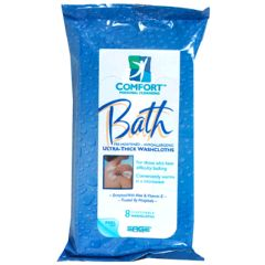 Sage Comfort Bath Ultra-Thick Bathing Washcloth Wipes