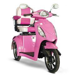 E Wheels EW-80 Custom Pretty in Pink 3 Wheel Mobility Scooter