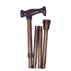 HealthSmart Adjustable Folding Cane with Ergonomic Handle
