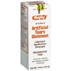 Rugby Laboratories Artificial Tears Ophthalmic Ointment - 1/8 oz (3.5gm) tube
