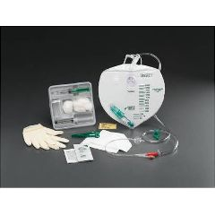Bardex Catheter Insertion Tray 18Fr 100% Silicone Cath w/Anti-Reflux Chamber Drainage Bag