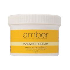 Amber Vanilla Lemongrass Aromatherapy Massage Cream
