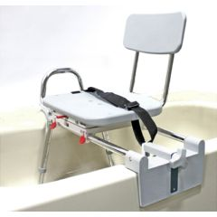Eagle Health Snap-N-Save Sliding Tub-Mount Transfer Bench with Swivel Seat and Back