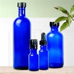 Glass Bottle With Cap Cobalt Blue 4 Oz (120Ml)