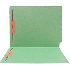Patterson Office Supplies 11PT 2 Fastner, Position 1&3 End-Tab File Folder 50/Box