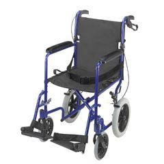 Briggs DMI Lightweight Aluminum Transport Chair Royal Blue Frame