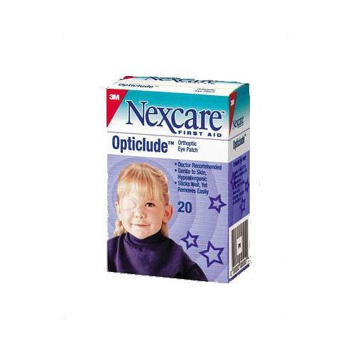 """NEXCARE Opticlude Oval Eye Patches - 2-1/2 x 1-1/4"""", Junior Model 757 0159 Pack of 20"""
