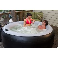 Spa2Go Portable Jacuzzi - EZ Spa2Go Inflatable & Portable Hot Tub/Whirlpool Spa - Black