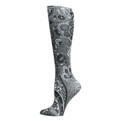 New Black Paisley Fashion Knee High Socks