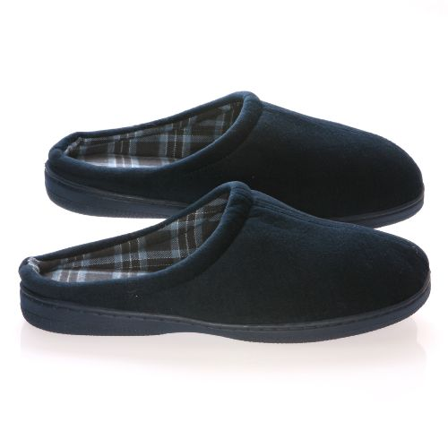 Deluxe Comfort Male Velvet Vamp With Cotton Lining Memory Foam Slippers
