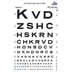 Snellen Eye Chart - Visual Acuity Eye Charts