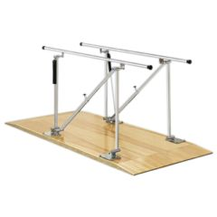 Fabrication Parallel Bars, Wood Platform Mounted, Height Adjustable, 10 Foot Long