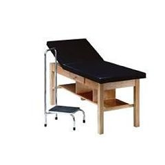 Bailey Manufacturing Treatment Table W/ Adjustable Back, Shelf & Drawer