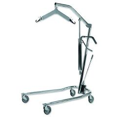 "Invacare Chrome Hydraulic Patient Lift 20""-64"" Range"