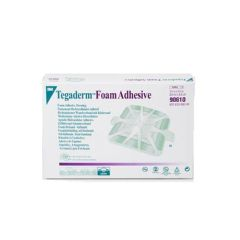 "Tegaderm 3M Tegaderm Foam Adhesive Dressing - 2"" Square Pad"