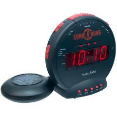 Sonic Bomb Alarm Clock w/ Bed Shaker