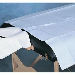 "TIDI Products Drape Sheet Poly Backed 40"" X 90"" Sheet 50 Count Blue"