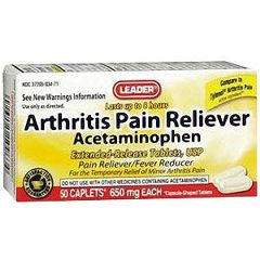 Cardinal Health Leader Arthritis Pain Relief Tablets