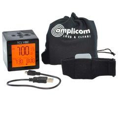 Amplicom TCL Vibe Dual Alarm Clock with Vibrating Wristband