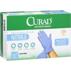 Curad Nitrile Powder Free Exam Glove Medium