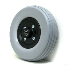 "New Solutions 8"" x 2 1/2"" Caster Wheels With Urethane Tires and B10 Bearings Pair"