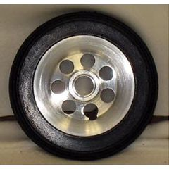 New Solutions Aluminum Urethane Round Wheel - 6 x 1 1/4""