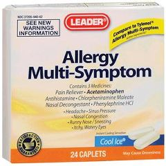 Cardinal Health Leader Allergy Relief PE Caplets 24 Count