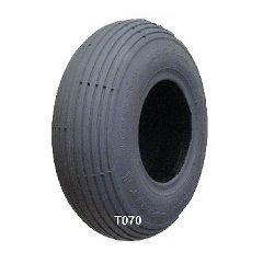 New Solutions Gray Pneumatic Rib (Spirit) Tire - 280 x 250-4