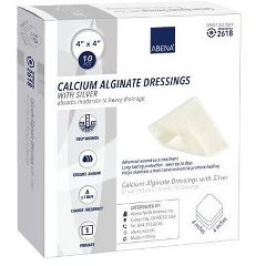 Abena® Calcium Alginate Dressing with Silver, Square