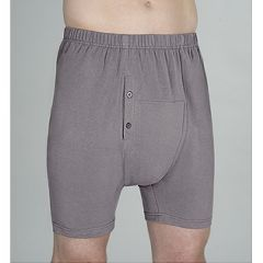 Wearever Men's Incontinence Boxer Briefs Grey